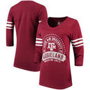 Texas A&M Aggies Alta Gracia (Fair Trade) Women's Lulu Striped Football 3/4-Sleeve T-Shirt - Maroon