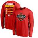 Maryland Terrapins Fanatics Branded 2017 NCAA Men's Lacrosse National Champions Long Sleeve T-Shirt - Red