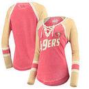 San Francisco 49ers Touch by Alyssa Milano Women's Hat Trick Raglan Long Sleeve T-Shirt – Scarlet/Gold