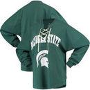 Michigan State Spartans Women's Lace-up Spirit Jersey Long Sleeve T-Shirt - Green