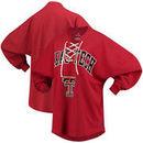Texas Tech Red Raiders Women's Lace-up Spirit Jersey Long Sleeve T-Shirt - Red