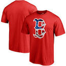 Boston Red Sox Fanatics Branded Banner Wave Logo T-Shirt - Red
