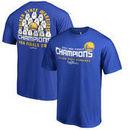 Golden State Warriors Fanatics Branded 2017 NBA Finals Champions Big & Tall Roster T-Shirt - Royal