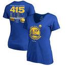 Golden State Warriors Fanatics Branded Women's 2017 NBA Finals Champions Plus Size Dub Nation T-Shirt - Royal
