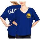 Golden State Warriors Fanatics Branded Women's 2017 NBA Finals Champions Spirit Jersey V-Neck T-Shirt - Royal