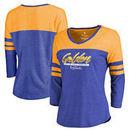 Golden State Warriors Fanatics Branded Women's 2017 NBA Finals Champions Zone Raglan Long Sleeve T-Shirt - Royal