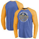 Golden State Warriors Fanatics Branded 2017 NBA Finals Champions Bridge Raglan Long Sleeve T-Shirt - Royal