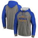 Kansas City Royals Fanatics Branded Cooperstown Collection Doubleday Tri-Blend Raglan Pullover Hoodie - Ash