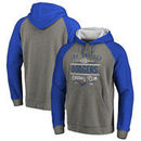 Los Angeles Dodgers Fanatics Branded Cooperstown Collection Doubleday Tri-Blend Raglan Pullover Hoodie - Ash