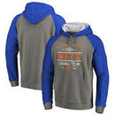 New York Mets Fanatics Branded Cooperstown Collection Doubleday Tri-Blend Raglan Pullover Hoodie - Ash