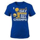 Golden State Warriors adidas Girls Youth 2017 NBA Finals Champions Parade T-Shirt - Royal