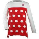 Ohio State Buckeyes Girls Youth Polka Dot Long Sleeve T-Shirt - Scarlet