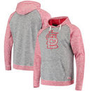 St. Louis Cardinals Stitches Slub Terry Pullover Hoodie - Heathered Gray/Heathered Red