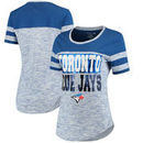 Toronto Blue Jays 5th & Ocean by New Era Women's Space Dye Crew T-Shirt - Royal