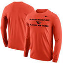 Oregon State Beavers Nike Mantra Long Sleeve T-Shirt - Orange