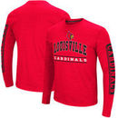 Louisville Cardinals Colosseum Big & Tall Sky Box Long Sleeve T-Shirt – Red