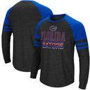 Florida Gators Colosseum Big and Tall Hybrid Raglan Long Sleeve T-Shirt – Heathered Gray/Royal