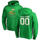 Norfolk State Spartans Fanatics Branded Personalized Basketball Pullover Hoodie - Kelly Green