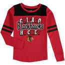 Chicago Blackhawks 5th & Ocean by New Era Girls Youth Slub Long Sleeve T-Shirt - Red/Black