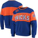 New York Knicks G-III Sports by Carl Banks Wild Cat Supreme II Long Sleeve T-Shirt - Royal/Orange
