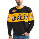 Los Angeles Lakers G-III Sports by Carl Banks Wild Cat Supreme II Long Sleeve T-Shirt - Black/Gold