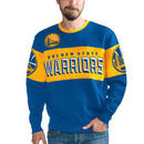 Golden State Warriors G-III Sports by Carl Banks Wild Cat Supreme II Long Sleeve T-Shirt - Royal/Gold