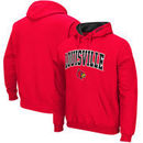 Louisville Cardinals Big & Tall Arch & Logo Tackle Twill Hooded Sweatshirt - Red