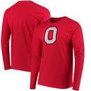 Ohio State Buckeyes Block O School Logo Long Sleeve T-Shirt - Scarlet