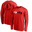 Damian Lillard Portland Trail Blazers Fanatics Branded Round About Name & Number Long Sleeve T-Shirt - Red