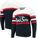 Boston Red Sox Mitchell & Ness Coaches Crew Neck Sweatshirt - Navy