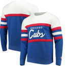 Chicago Cubs Mitchell & Ness Coaches Crew Neck Sweatshirt - Royal