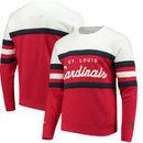 St. Louis Cardinals Mitchell & Ness Coaches Crew Neck Sweatshirt - Red