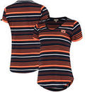 Auburn Tigers Women's Striped Tailgate T-Shirt - Navy