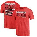 Manchester United Fanatics Branded Tour Schedule Tri-Blend T-Shirt - Red
