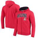 Arizona Wildcats Arch & Logo Tackle Twill Full-Zip Hoodie – Red
