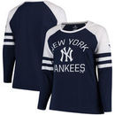 New York Yankees Fanatics Branded Women's Plus Size Iconic Raglan Long Sleeve T-Shirt - Navy/White