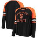 San Francisco Giants Fanatics Branded Women's Plus Size Iconic Raglan Long Sleeve T-Shirt - Black/Orange