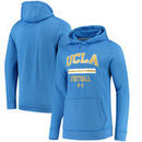 UCLA Bruins Under Armour Football Sideline Performance Pullover Hoodie - Blue
