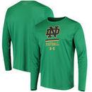 Notre Dame Fighting Irish Under Armour Football Sideline Tech Performance Long Sleeve T-Shirt - Kelly Green