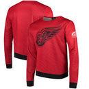 Detroit Red Wings Static Rain Printed Sweatshirt - Red