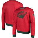 Minnesota Wild Static Rain Printed Sweatshirt - Red