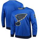 St. Louis Blues Static Rain Printed Sweatshirt - Blue