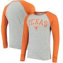 Texas Longhorns Byron Raglan Long Sleeve T-Shirt - Gray/Texas Orange