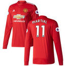 Anthony Martial Manchester United adidas 2017/18 Home Replica Patch Long Sleeve Jersey - Red