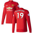 Marcus Rashford Manchester United adidas 2017/18 Home Replica Patch Long Sleeve Jersey - Red