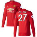 Marouane Fellaini Manchester United adidas 2017/18 Home Replica Patch Long Sleeve Jersey - Red