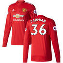 Matteo Darmian Manchester United adidas 2017/18 Home Replica Patch Long Sleeve Jersey - Red