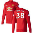 Axel Tuanzebe Manchester United adidas 2017/18 Home Replica Patch Long Sleeve Jersey - Red