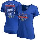 Florida Gators Fanatics Branded Women's 2017 NCAA Men's Baseball College World Series National Champions Line Drive Score T-Shir