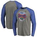 Florida Gators Fanatics Branded 2017 NCAA Men's Baseball College World Series National Champions Vintage Raglan Long Sleeve T-Sh